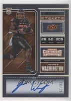 RPS College Ticket - James Washington (Black Jersey, Both Hands on Ball) #/25
