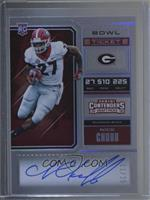 RPS College Ticket Variation A - Nick Chubb /25