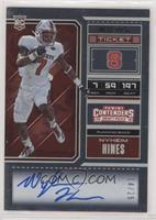 RPS College Ticket Variation A - Nyheim Hines #/25