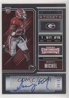 College Ticket - Sony Michel #/99