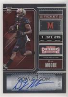 College Ticket - D.J. Moore #/99