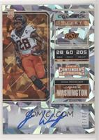 RPS College Ticket - James Washington (Black Jersey, Both Hands on Ball) #/23