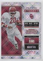Season Ticket - Billy Sims /49