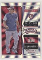 Season Ticket - Nick Saban /5