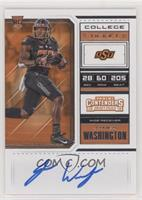 RPS College Ticket - James Washington (Black Jersey, Both Hands on Ball)