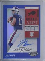 Rookie Ticket RPS Autographs - Josh Allen #/15