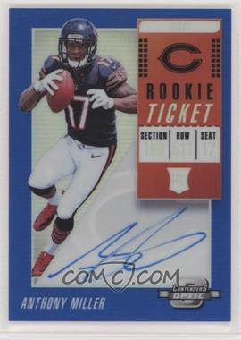 2018 Panini Contenders Optic - [Base] - Blue #120 - Rookie Ticket RPS Autographs - Anthony Miller /25