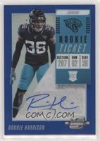 Rookie Ticket Autographs - Ronnie Harrison #/25