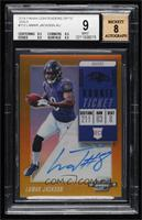 Rookie Ticket RPS Autographs - Lamar Jackson [BGS 9 MINT] #/10