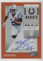 Rookie Ticket RPS Autographs - Nyheim Hines #/49