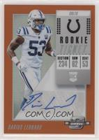 Rookie Ticket Autographs - Darius Leonard #/49