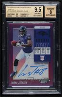 Rookie Ticket RPS Autographs - Lamar Jackson [BGS 9.5 GEM MINT] …