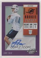 Rookie Ticket Autographs - Luke Falk #/99