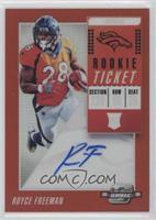 Rookie Ticket RPS Autographs - Royce Freeman #/199