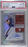 Rookie Ticket RPS Autographs - Josh Allen [PSA 10 GEM MT]