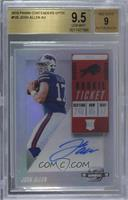 Rookie Ticket RPS Autographs - Josh Allen [BGS 9.5 GEM MINT]