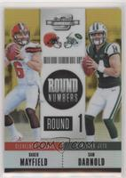 Baker Mayfield, Sam Darnold #/10