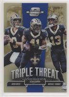 Drew Brees, Alvin Kamara, Michael Thomas #/25