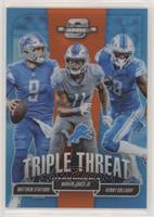 Matthew Stafford, Marvin Jones Jr., Kenny Golladay #/49