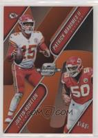 Patrick Mahomes II, Justin Houston #/49