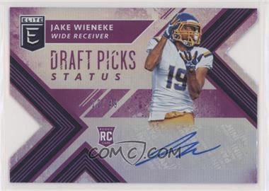 2018 Panini Elite Draft Picks - [Base] - Status Purple Die-Cut Autographs [Autographed] #171 - Draft Picks - Jake Wieneke /49