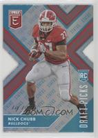 Draft Picks Variation - Nick Chubb #/1
