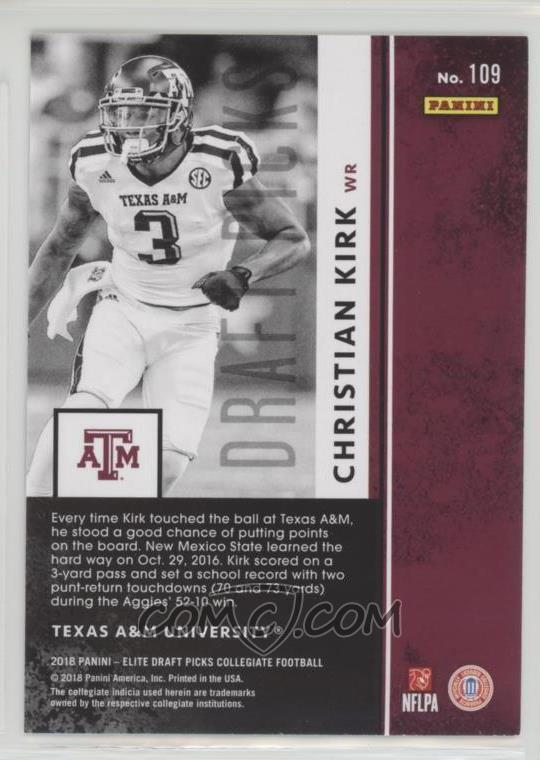 a0eaa392d 2018 Panini Elite Draft Picks -  Base   109 - Draft Picks ...