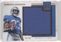 Kerryon Johnson /50