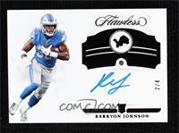 Rookie Gems Signatures - Kerryon Johnson #/4