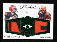 Nick Chubb, Baker Mayfield #/3