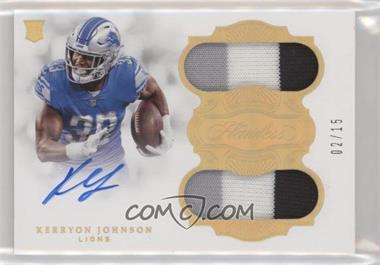 2018 Panini Flawless - Rookie Dual Patch Autographs #RCD-KJ - Kerryon Johnson /15