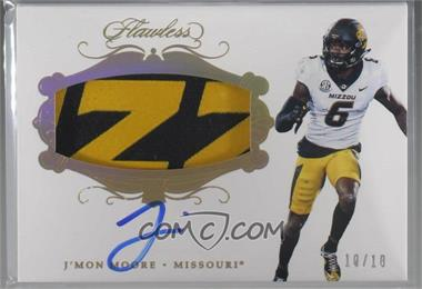 2018 Panini Flawless Collegiate - Flawless Rookie Patch Autographs - Gold #RPA JM - J'Mon Moore /10 [Noted]