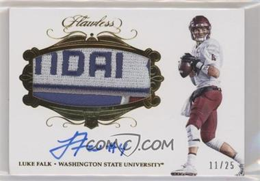 2018 Panini Flawless Collegiate - Flawless Rookie Patch Autographs #RPA LF - Luke Falk /25 [EX to NM]