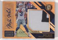 Rookie Jersey Autographs Jumbo Prime - Mike White #/49