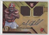 Rookie Jersey Autographs Double - Nick Chubb /75