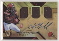 Rookie Jersey Autographs Triple - Nick Chubb #57/75
