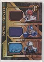 Baker Mayfield, DJ Moore, Saquon Barkley #/199