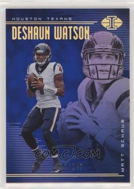2018 Panini Illusions - [Base] - Trophy Collection Blue #46 - Deshaun Watson, Matt Schaub /249