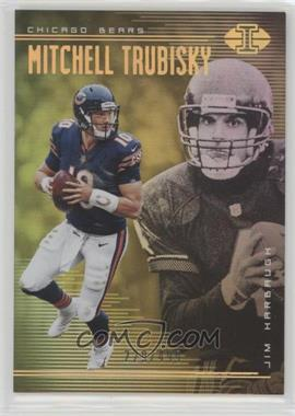 2018 Panini Illusions - [Base] - Trophy Collection Gold #41 - Mitchell Trubisky, Jim Harbaugh /499