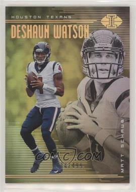 2018 Panini Illusions - [Base] - Trophy Collection Gold #46 - Deshaun Watson, Matt Schaub /499