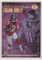 Calvin Ridley, Julio Jones #/75