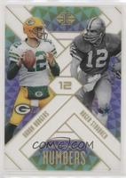 Aaron Rodgers, Roger Staubach #/299