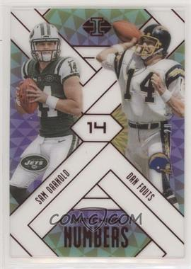 2018 Panini Illusions - Matching Numbers - Red #1 - Sam Darnold, Dan Fouts /99
