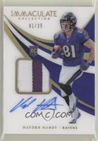 Rookie Patch Autographs - Hayden Hurst #/25
