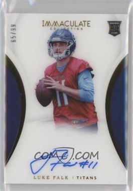 2018 Panini Immaculate Collection - [Base] #154 - Rookie Autographs - Luke Falk /99