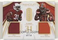David Johnson, Nick Chubb #/50