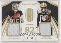 Jordy Nelson, J'Mon Moore [Good to VG‑EX] #/50