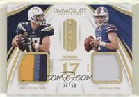Philip Rivers, Josh Allen #/50