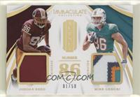 Jordan Reed, Mike Gesicki #/50