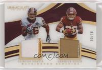 Clinton Portis, Derrius Guice [Noted] #/10